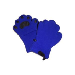 手袋   ベアハンズ フリースミトン 子供用コバルトブルー BEMTCBYS arinkurin