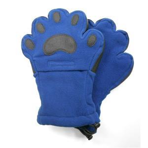 手袋   ベアハンズ フリースミトン 大人用コバルトブルー BEMTCBAD arinkurin