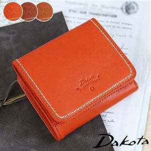2折財布 二つ折り財布 BOX型小銭入れ付き コンパクト Dakota ダコタ プレッソ コンパクト 牛革 本革 0036020|arista
