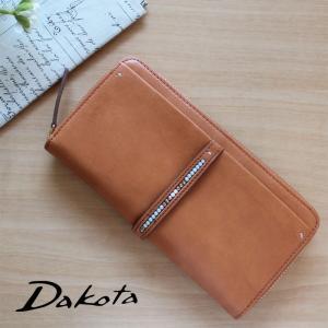 ラウンドファスナー長財布 Dakota ダコタ ルクス 本革 ボックス型小銭入れ 0036062|arista