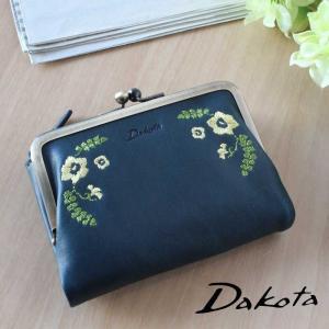 2折財布 がま口 Dakota ダコタ リカモ 本革 0036080|arista