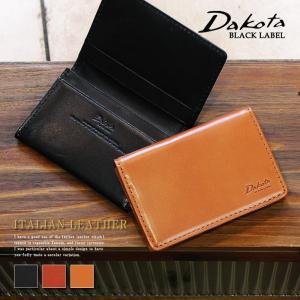 ダコタ Dakota BLACK LABEL ダコタブラックレーベル メーディオ カードケース 名刺入れ イタリア製牛革 0626704|arista