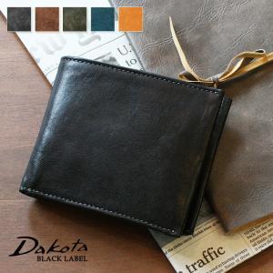 2折財布 二つ折り財布 イタリア製牛革 ダコタブラックレーベル ガウディ Dakota BLACK LABEL 0626800|arista