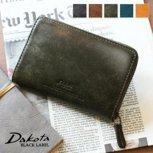 2折財布 BOX型小銭入れ イタリア製牛革 本革 Dakota BLACK LABEL ダコタブラックレーベル ガウディ ラウンドファスナー0626802 arista