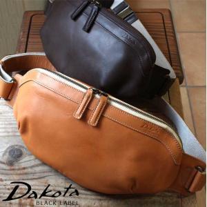 ボディバッグ マチ無し 牛革 本革 日本製 Dakota BLACK LABEL ダコタブラックレーベル イッシュ 1620390|arista