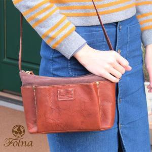 ショルダーバッグ なき革×帆布 Folna フォルナ 259469|arista