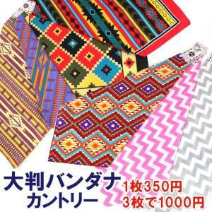 バンダナ 大判 カントリー カントリー ジーンズ ネイティブアメリカン 55×55 3枚1000円|arista