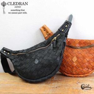 ボディバッグ CLEDRAN(クレドラン)×robita(ロビタ) 牛革メッシュ CL2562|arista