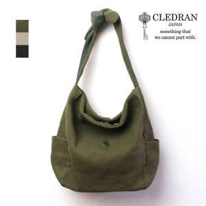 CLEDRAN(クレドラン)MUA(ムア) ウォッシュドコットンリネン×牛革 ハーフショルダーバッグ CL2762【日本製】|arista