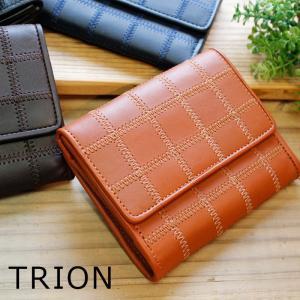 2折財布 トライオン TRION パッチワーク グローブレザー KP822|arista