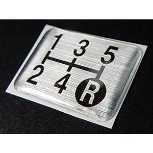 シフト パターン プレートエンブレム 5速マニュアル車用 車検対策などに シフト表示を明確に |ark-design