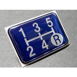 シフトパターン プレート 5速マニュアル車用 ブルークリアドーム仕様 今や貴重なマニュアル車のアピールに!  もちろん、車検対策にも|ark-design