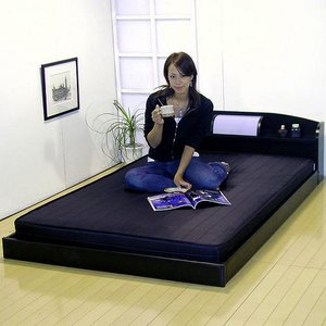 190ブラック/マット付シングルベッド|ark-in