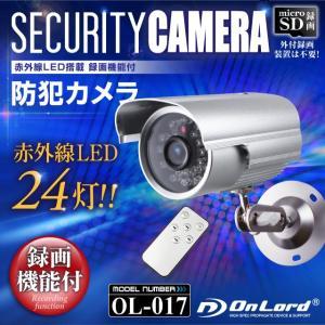 赤外線LEDライト 防犯カメラ MicroSDカード録画 新動体検知 防滴型 オンロード 「 OL-017 」 arkham