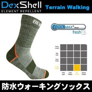 DexShell デックスシェル 完全防水ソックス Waterproof Terrain Walking Socksタレイン ウォーキングソックス 足首丈 DS848HPG ヘザー・ペール・グリーン arkham