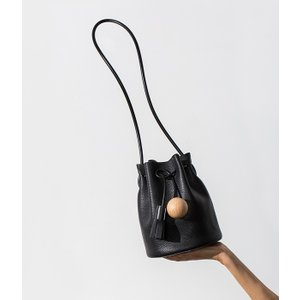 Building Block [ビルディングブロック] / MINI BUCKET-Smooth Leather /Rubber Strap- (バッグ レザーバッグ) 19-Bucket-BLK|arknets