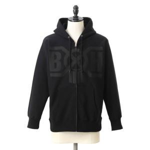 BOUNTY HUNTER(バウンティーハンター) / BxH Black×Black Logo Zip-up Pk(バウンティーハンター ロゴ ジップアップ パーカー)BHLC1711-10|arknets