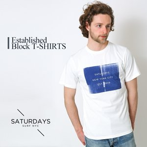 SATURDAYS SURF NYC (サタデーズ サタデーズサーフ NYC) / Established Block T-Shirts / 全2色 (ブロック TEE Tシャツ 半袖 カットソー) M21729PT04|arknets