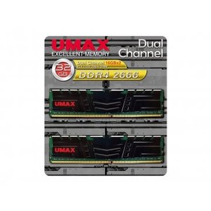 UMAX UM-DDR4D-2666-32GBHS 288Pin DDR4-2666 32GB(16...