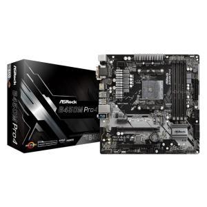 ASRock B450M Pro4 Socket AM4対応 AMD B450チップセット搭載Mic...