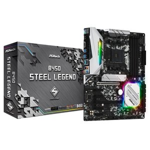 ASRock B450 Steel Legend Socket AM4対応 AMD B450チップセ...