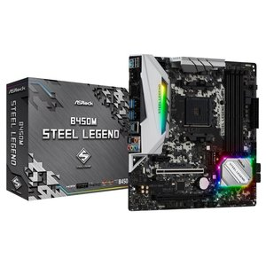 ASRock B450M Steel Legend Socket AM4対応 AMD B450チップ...