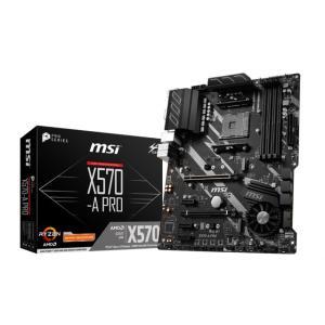 MSI X570-A PRO Socket AM4対応 AMD X570チップセット搭載ATXマザー...