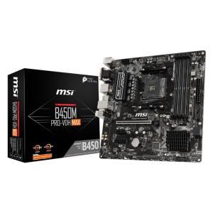 MSI B450M PRO-VDH MAX Socket AM4対応 AMD B450チップセット搭...