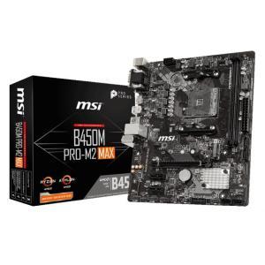 MSI B450M PRO-M2 MAX Socket AM4対応 AMD B450チップセット搭載...
