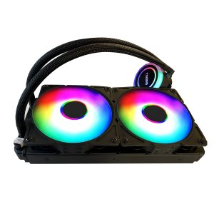 CPUクーラー 冷却パーツ フアン 水冷一体型 120mm水冷クーラー 水冷システム RGB PWMファン超静音 LEDリング搭載[Intel/AMD両対応]|arlife