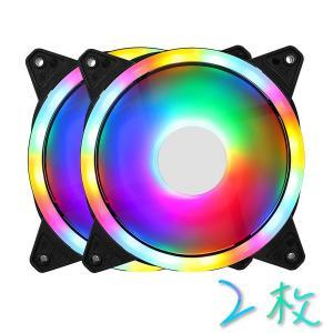 PCフアン GELID 静音ファン 120mm 2枚 RGBケースフアン PCケース ケースファン PCパーツ アドレサブル RGB シングルフアン 11枚羽フアン|arlife