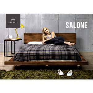 ベッド ローベッド ダブル すのこベッド ベッドフレーム 北欧 スタイル ベット ミッドセンチュリー 北欧 カフェ armonia