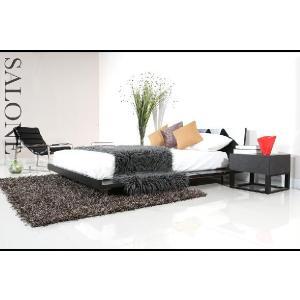 ベッド ローベッド ダブル すのこベッド ベッドフレーム 北欧 スタイル ベット ミッドセンチュリー 北欧 カフェ armonia 02