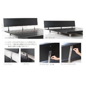 ベッド ローベッド ダブル すのこベッド ベッドフレーム 北欧 スタイル ベット ミッドセンチュリー 北欧 カフェ armonia 03