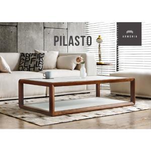ガラステーブル 木製テーブル モダンインテリア Pilasto
