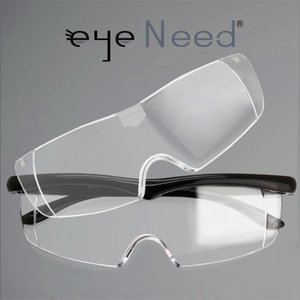 ブルーライトカット 付け替え ルーペ メガネ アイニード≪1.6倍率≫≪2.1倍率≫ セット (ブラック)[送料無料]メガネの上から掛けられるルーペ 眼鏡|armsstore