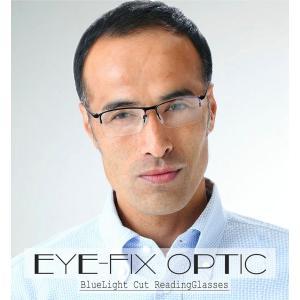 【3,000円ぽっきり価格!】ブルーライトカット 紫外線 UV カット 遠近両用メガネ Eye Fix Optic (小窓 境目あり)[全額返金保証]小玉付 おしゃれ 老眼鏡 眼鏡|armsstore