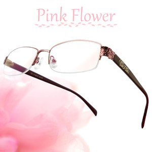 ブルーライトカット 老眼鏡 ピンクフラワー[全額返金保証]メガネ 眼鏡 女性 用 メガネ シニアグラス レディース おしゃれ リーディンググラス スマホ|armsstore