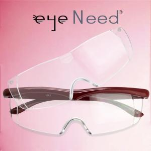 ブルーライトカット 付け替え ルーペ メガネ アイニード≪1.6倍率≫≪2.1倍率≫ セット (ブラウンレッド)[送料無料]メガネの上から掛けられるルーペ 眼鏡|armsstore