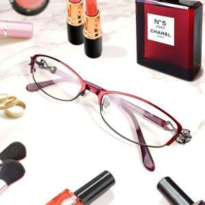 ブルーライトカット 中近両用メガネ アンティークデザイン[全額返金保証] 老眼鏡 眼鏡 女性 用 シニアグラス レディース おしゃれ リーディンググラス|armsstore