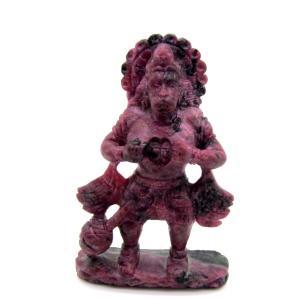 天然ルビー!! ハヌマーン像(インドの神様) ディスプレイ 高級ケース付き|arnavgems