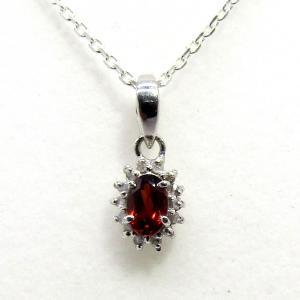 ダイヤモンド 1月:誕生石  ガーネット Silver925 ペンダントトップ ※チェーン含まず|arnavgems