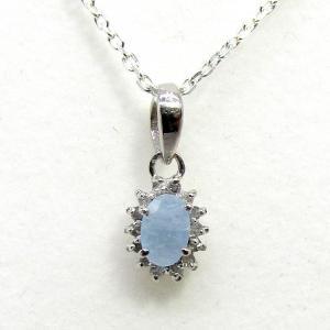 ダイヤモンド 3月:誕生石  アクアマリン Silver925 ペンダントトップ ※チェーン含まず|arnavgems