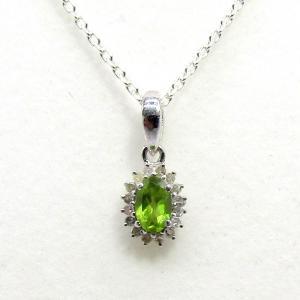ダイヤモンド 8月:誕生石  ペリドット Silver925 ペンダントトップ ※チェーン含まず|arnavgems