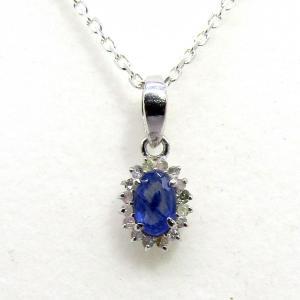 ダイヤモンド 9月:誕生石  サファイア Silver925 ペンダントトップ ※チェーン含まず|arnavgems