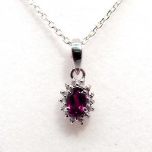 ダイヤモンド 10月:誕生石  ガーネット Silver925 ペンダントトップ ※チェーン含まず|arnavgems