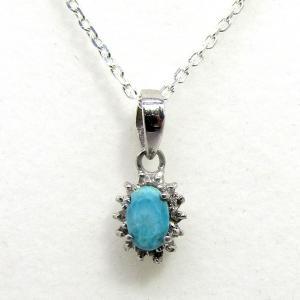 ダイヤモンド 12月:誕生石  ターコイズ Silver925 ペンダントトップ ※チェーン含まず|arnavgems