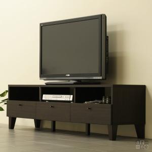 テレビボード 150 ダークブラウン ローボード 北欧 完成品 テレビ台 おしゃれ モダン 42型 50型 R1-150TV|arne-rack