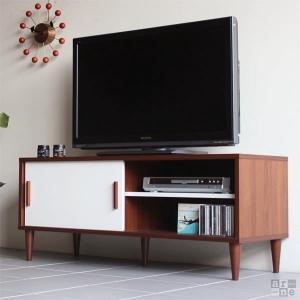 テレビ台 北欧 コンパクト 120 国産 完成品 アンティーク レトロ シンプル ローボード おしゃれ T-001N|arne-rack