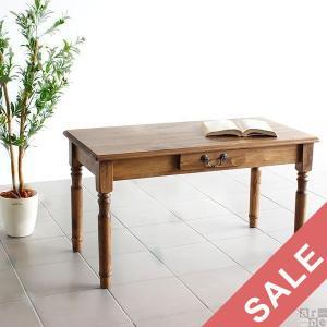 ローテーブル アンティーク調 おしゃれ テーブル ナチュラル 木製 天然木 new arcII カフェテーブル ハイタイプ|arne-rack